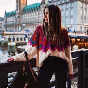 NWT Zara Jacquard Sweater